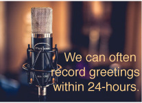 Voice Talent who records business phone greetings such as auto-attendants, IVR and voicemail greetings